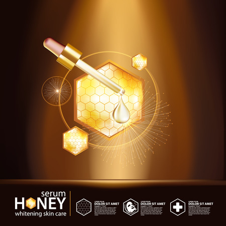 steroid: Honey Serum Background Concept Skin Care Cosmetic
