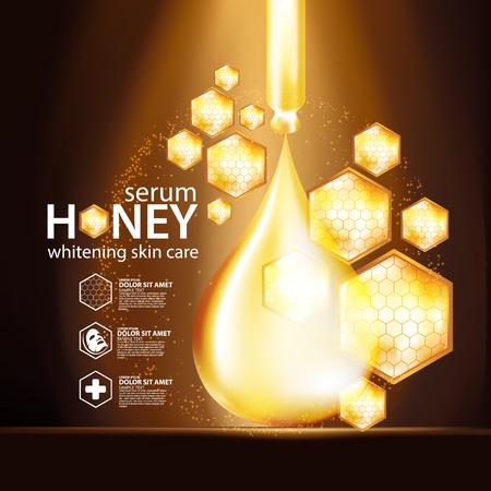 Honey Serum Background Concept Skin Care Cosmetic