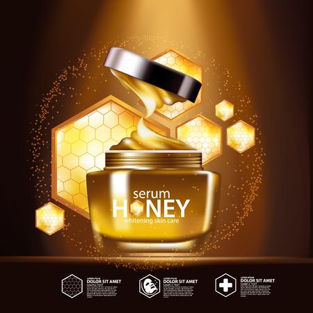 serum: Honey Serum Background Concept Skin Care Cosmetic