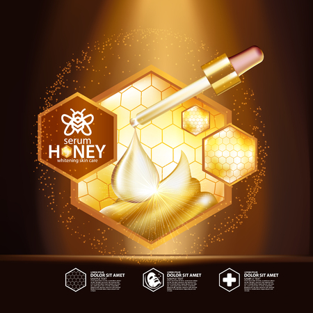 Honey Serum Background Concept Skin Care Cosmetic
