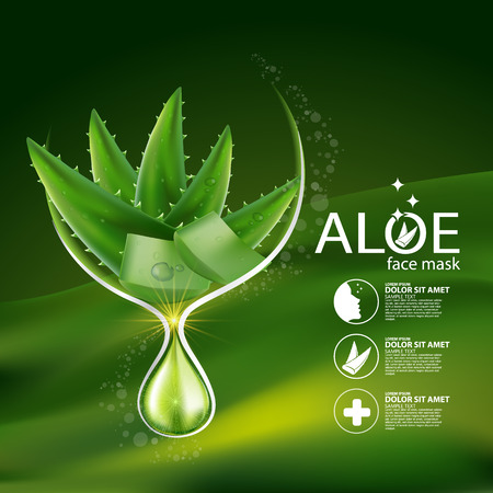 complexion: Aloe Vera collagen Serum and Background Concept Skin Care Cosmetic.