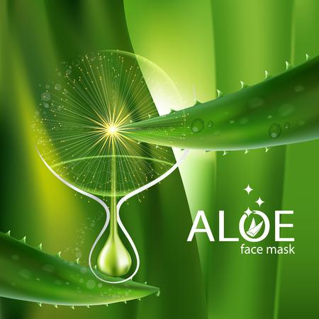 Aloe Vera collagen Serum and Background Concept Skin Care Cosmetic. 版權商用圖片 - 61226459