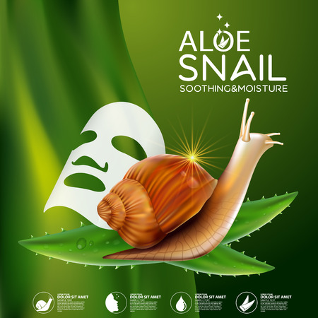Snail Serum Cosmetic for Skin. Illustration