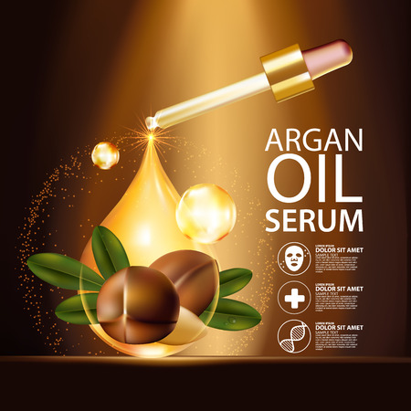 argan oil Serum Skin Care Cosmetic.