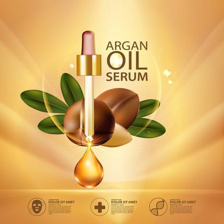 thermal: argan oil Serum Skin Care Cosmetic.