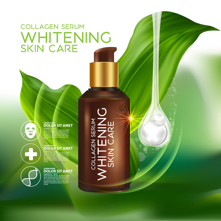 Collagen Serum Concept Skin Care Cosmetic 版權商用圖片 - 66527833