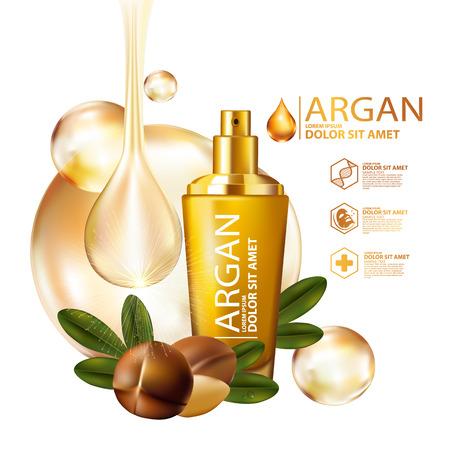 argan oil Serum Skin Care Cosmetic. 版權商用圖片 - 66841781