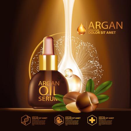 argan oil Serum Skin Care Cosmetic.