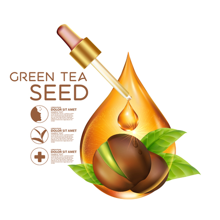 seeds: Green tea seed Oil Skin Care Cosmetic.