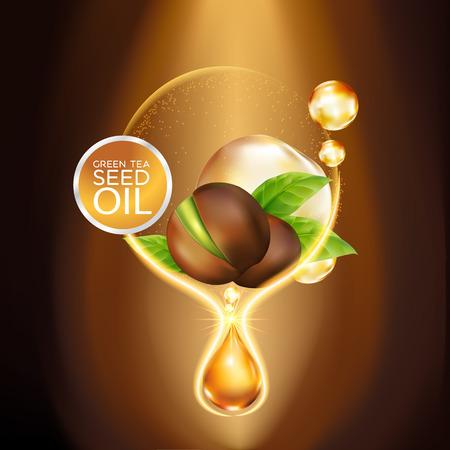 Green tea seed Oil Skin Care Cosmetic.