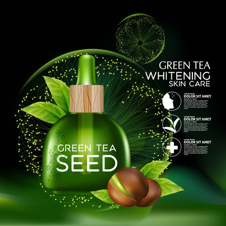 skin oil: Green tea seed Oil Skin Care Cosmetic.
