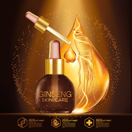 Ginseng Serum Skin Care Cosmetic