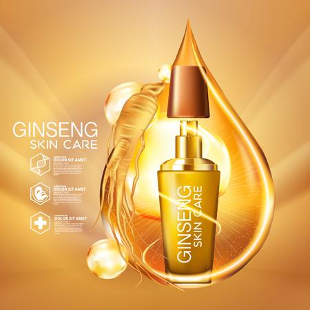 ginseng: Ginseng Serum Skin Care Cosmetic