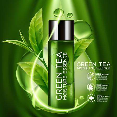 essence: Green Tea Moisture Essence Skin Care Cosmetic.