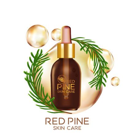 serum: Pine Serum Skin Care Cosmetic Illustration