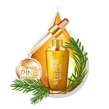 Pine Serum Skin Care Cosmetic Illustration