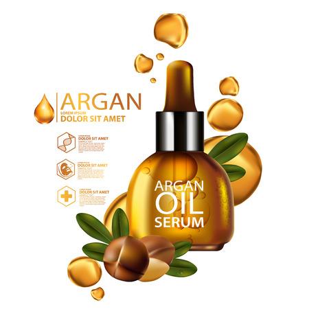 nut: argan oil Serum Skin Care Cosmetic.