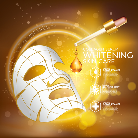 steroid: Collagen Serum Background Concept Skin Care Cosmetic