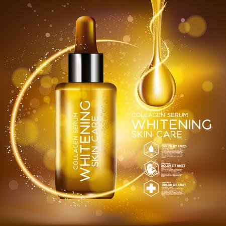 Collagen Serum Background Concept Skin Care Cosmetic 版權商用圖片 - 69808502