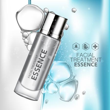 essence: Facial Treatment Essence Skin Care Cosmetic. Illustration