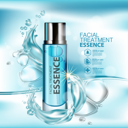 Facial Treatment Essence Skin Care Cosmetic. Illusztráció
