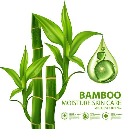 Bamboo Natural Moisture Skin Care Cosmetic. Illustration