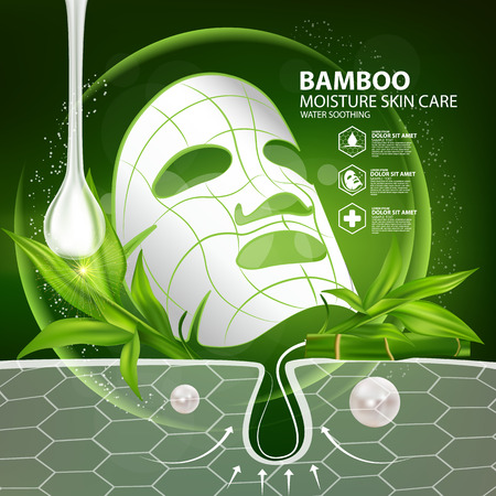 face mask: Bamboo Natural Face Mask Moisture Skin Care Cosmetic.