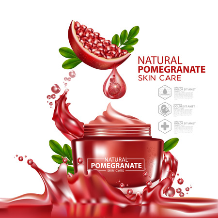 Pomegranate Moisture Essence Skin Care Cosmetic.