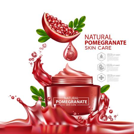 Pomegranate Moisture Essence Skin Care Cosmetic.