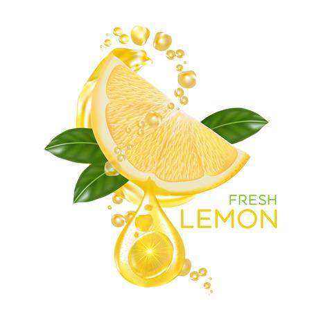 lemon: fresh lemon fruit vector