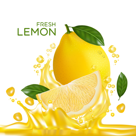 fresh lemon fruit vector