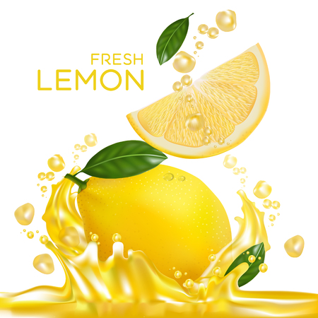 fresh lemon fruit vector