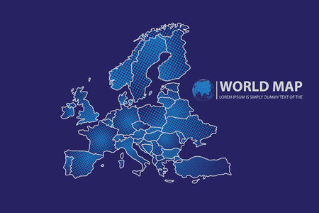 wold map: Europe map Map design.