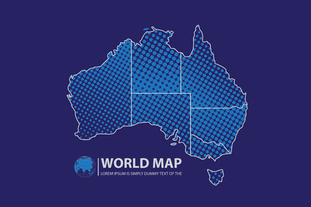 wold map: Australia Map design Illustration