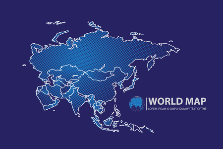 wold map: Asia Map design.