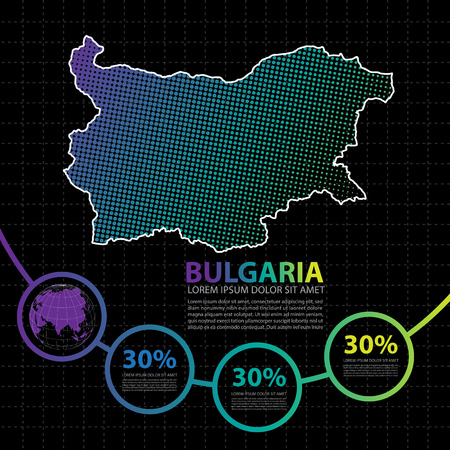 Bulgaria map infographic design template