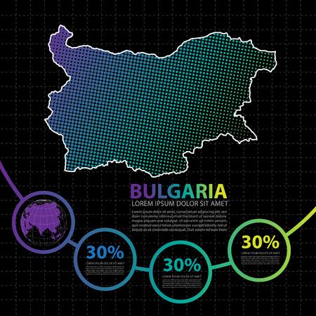 Bulgaria map infographic design template