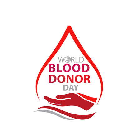 World blood donor day-June 14 Vectores