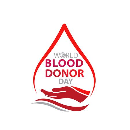 World blood donor day-June 14 Ilustracja