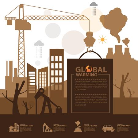 Réchauffement mondial Banque d'images - 80253626