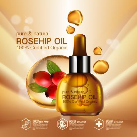 Rose hip Öl natürliche kosmetische Hautpflege