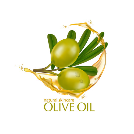 moisture: Olive oil organics natural skin care cosmetic. Illustration