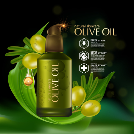 Olive oil organics natural skin care cosmetic