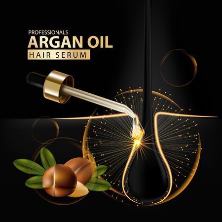 argan oil hair care protection illustration Illustration