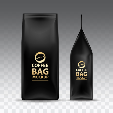 Coffee Bag Mockup Packaging Isolated illustration.