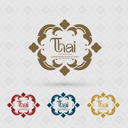 タイのアートベクトルイラスト