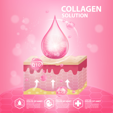 Collagen Serum Skin Care Cosmetic 일러스트