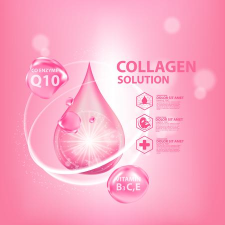 Collagen Serum Skin Care Cosmetic Illustration