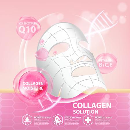 Collagen serum skin care cosmetic