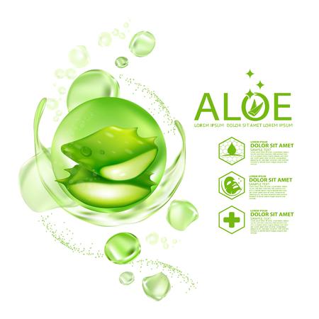 アロエベラコラーゲン血清スキンケア化粧品。 写真素材 - 101918563